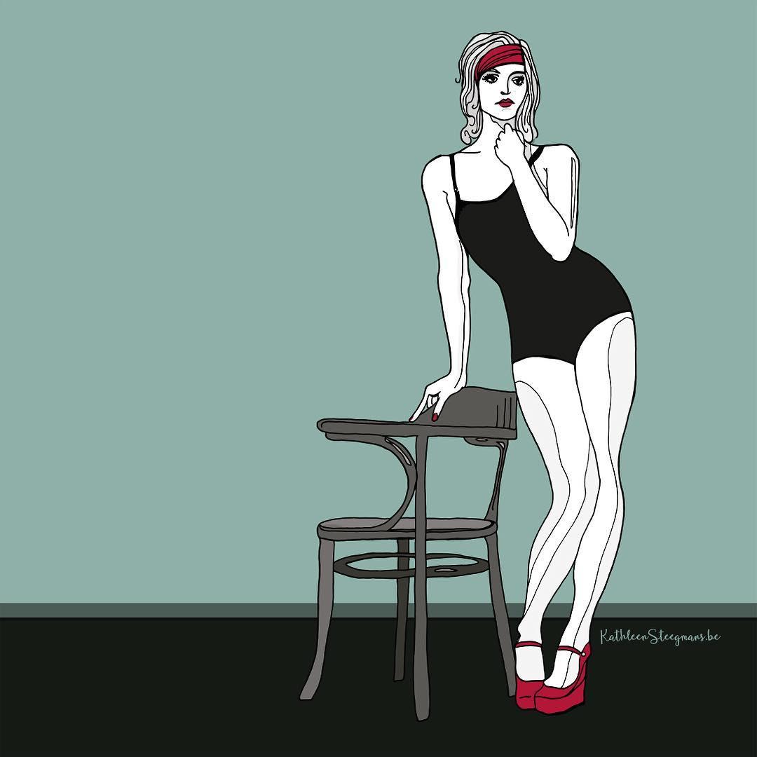 Ilustration swimsuit girl