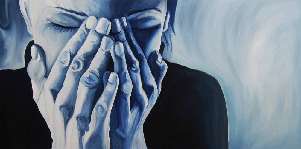Feeling Blue - Oil on Canvas - 120 x 60 cm