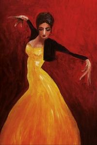 Private Dancer - Oil on Paper, 20 x 30 cm