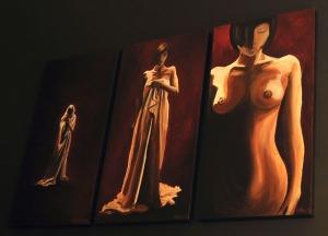 Transitions - Acrylic on Canvas, 3 x 40x80 xm