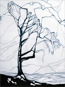 The Tree - Ink op Paper