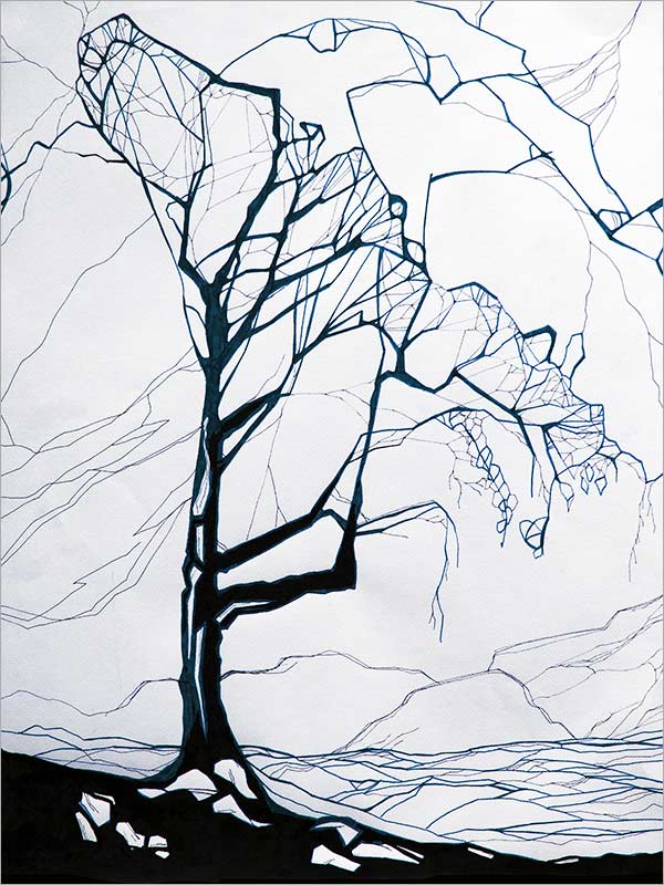 The Tree - Ink op Paper