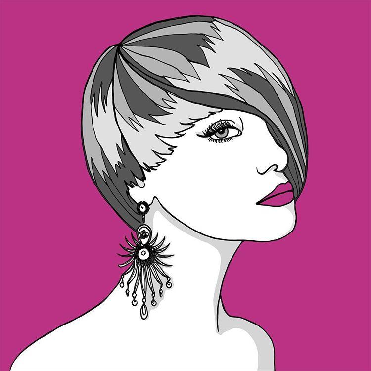 84 - Kim - pink illustration
