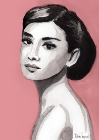 Audrey In Pink - Illustration