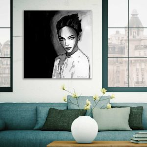 Art print zwart wit