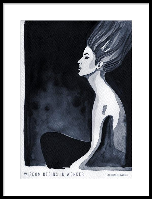 Free ink illustration poster