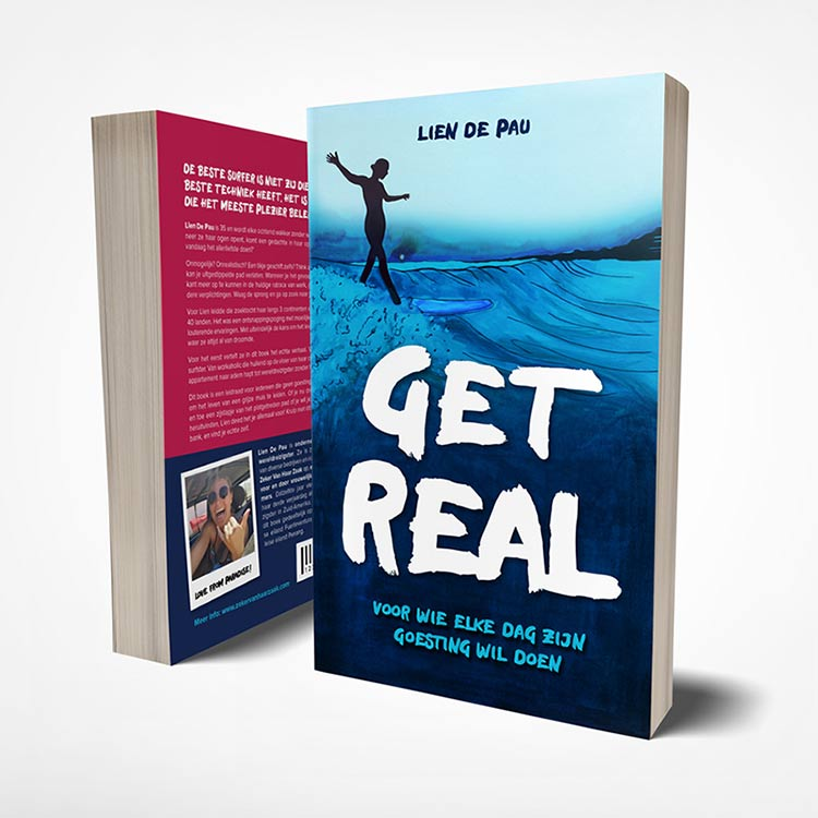 Book cover illustration for Get Real by Lien de Pau