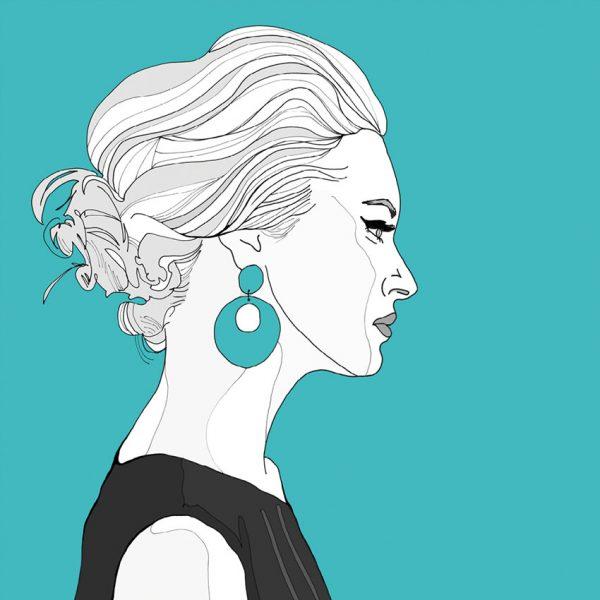 Modern art print - blue