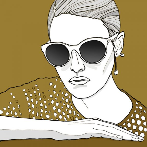 Gold illustration - girl
