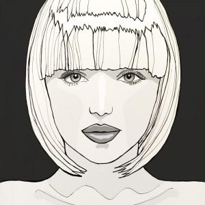 42 - Mia - portrait illustration