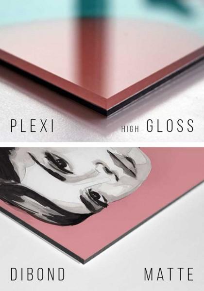 Plexi or dibond print