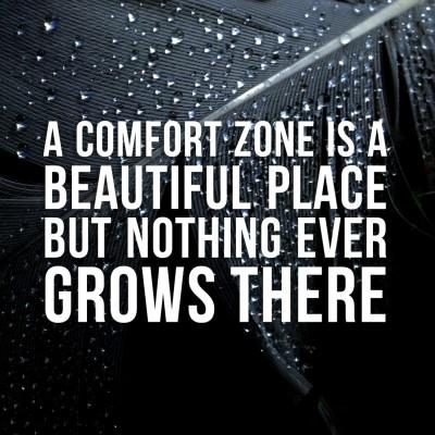 Comfortzone quote