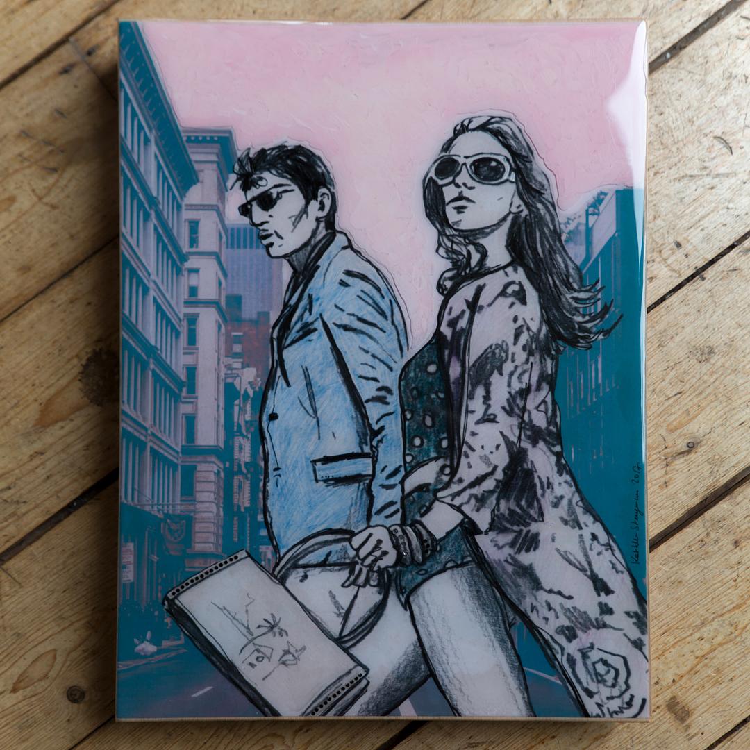 Mister & Misses Smith - Epoxy Art