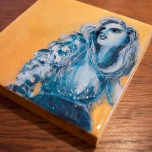 Mixed Media Artwork - Little Miss Glitter