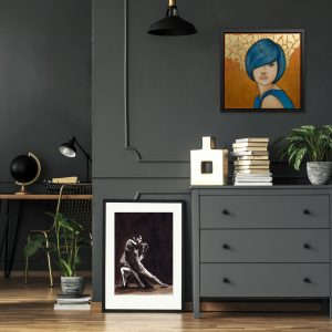 Figurative Art on grey walls