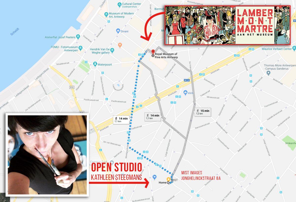 From Lambermontmartre to my Open Studio