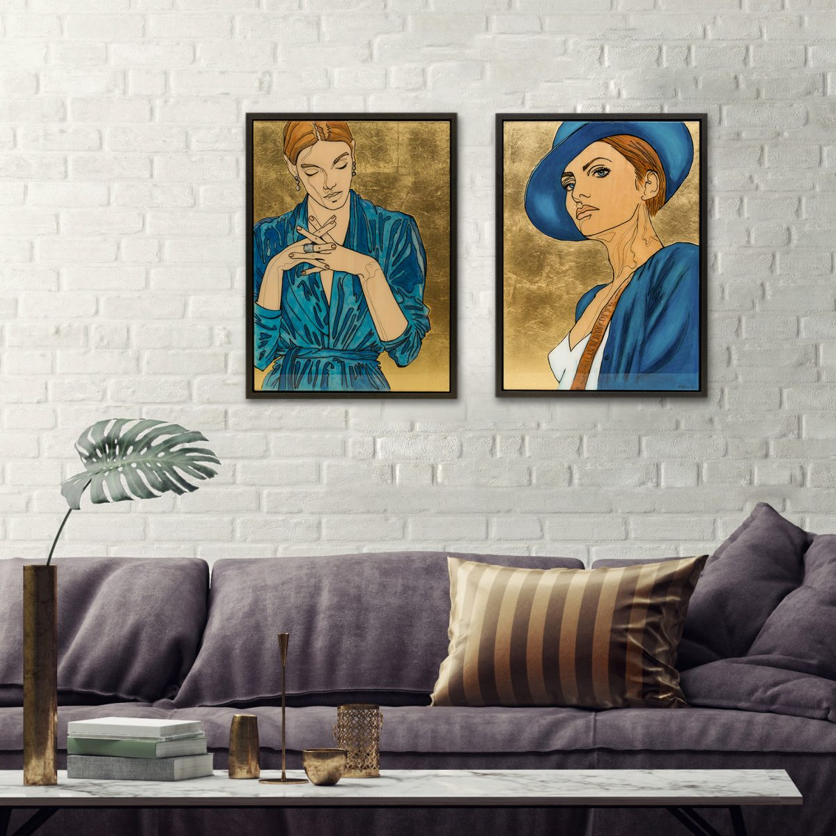Mixed Media art in an interior