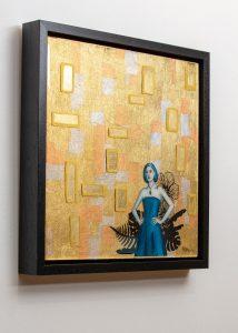 Golden Garden - Epoxy art on wood