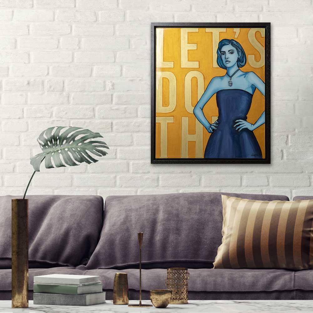MixedMedia Art in an interior