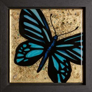 ButterFly Resin Art with Gold