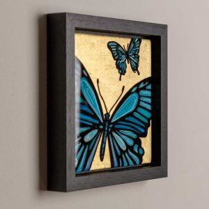 Blue butterfly art