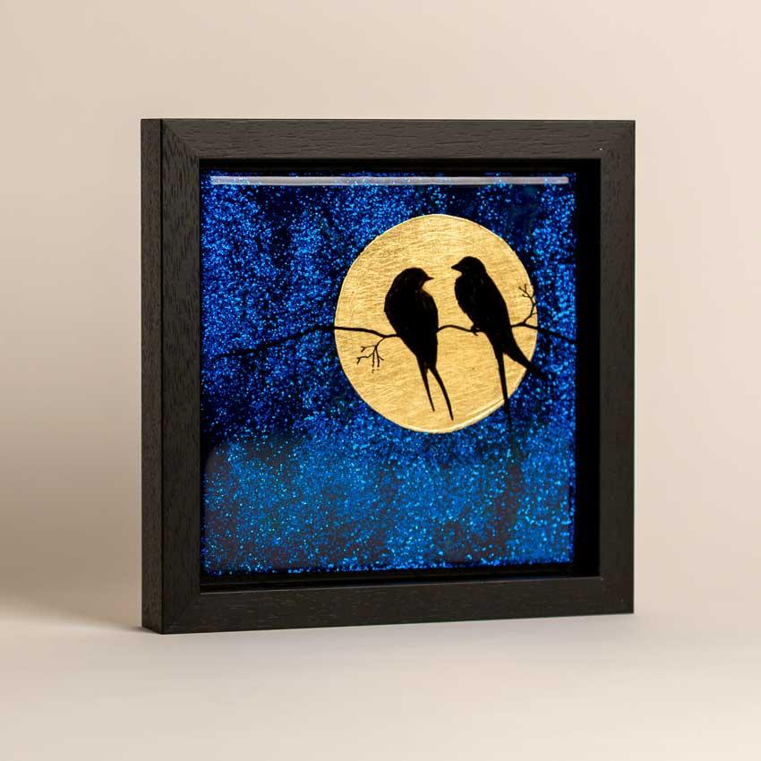Blue Glitter Artwork