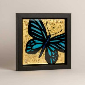 Gold butterfly art
