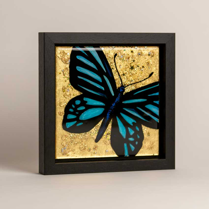 Gold butterfly art