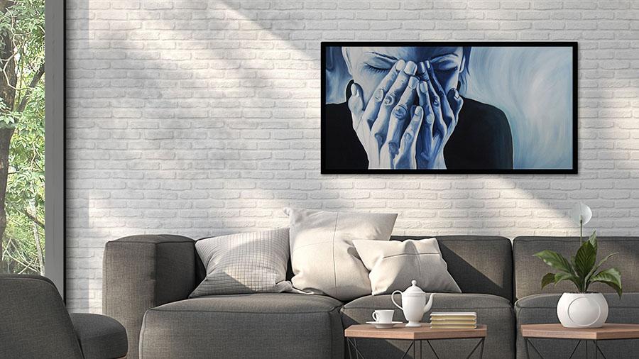 Feeling Blue - Schilderij voor je woonkamer