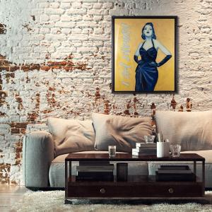 I Am Enough - mixed media art in an interior