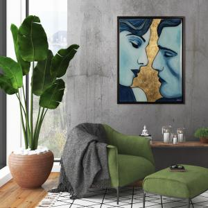Twin flames art in an interior