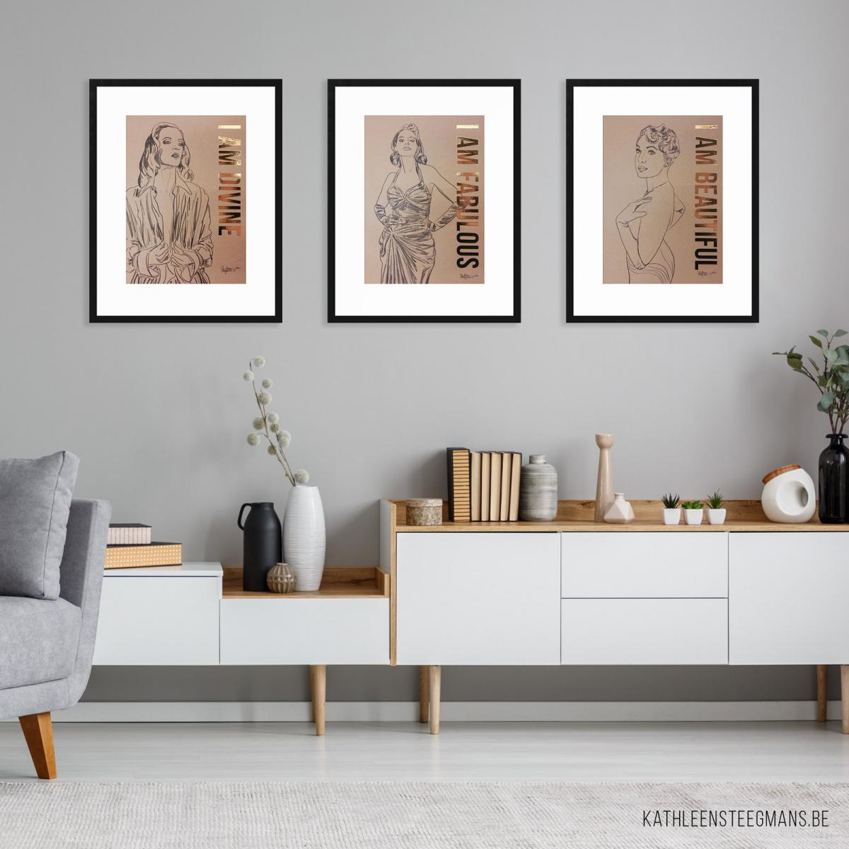 3 Limited Edition Prints, inspired by the power of 'I Am' affirmations.