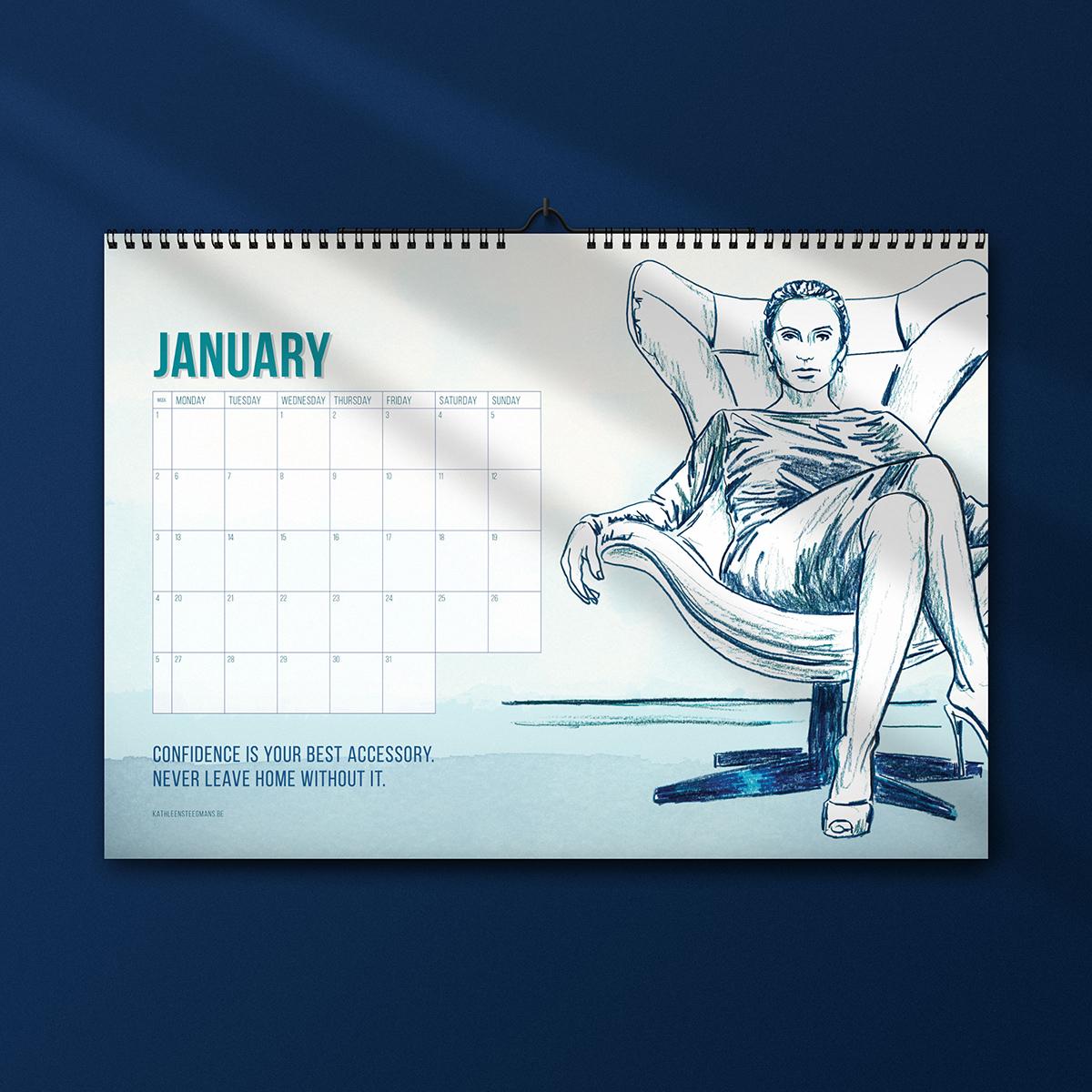 2020 art calendar by kathleen steegmans