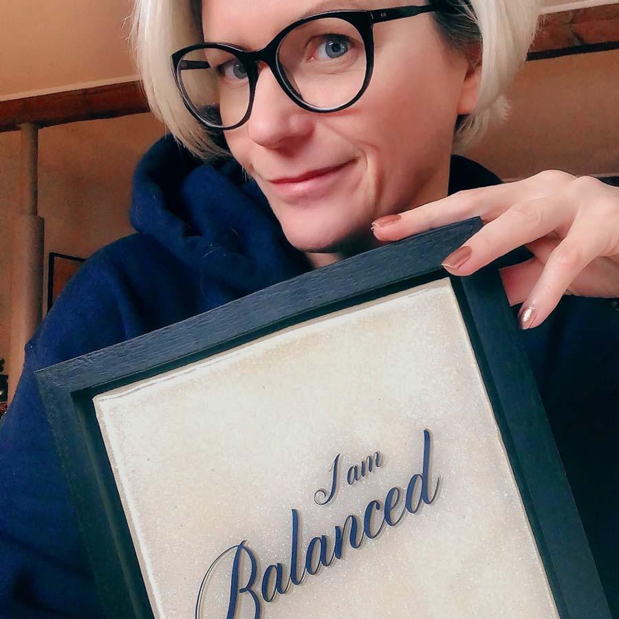 I am balanced artwork