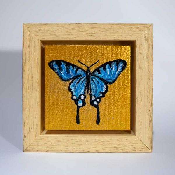 Mini golden butterfly painting
