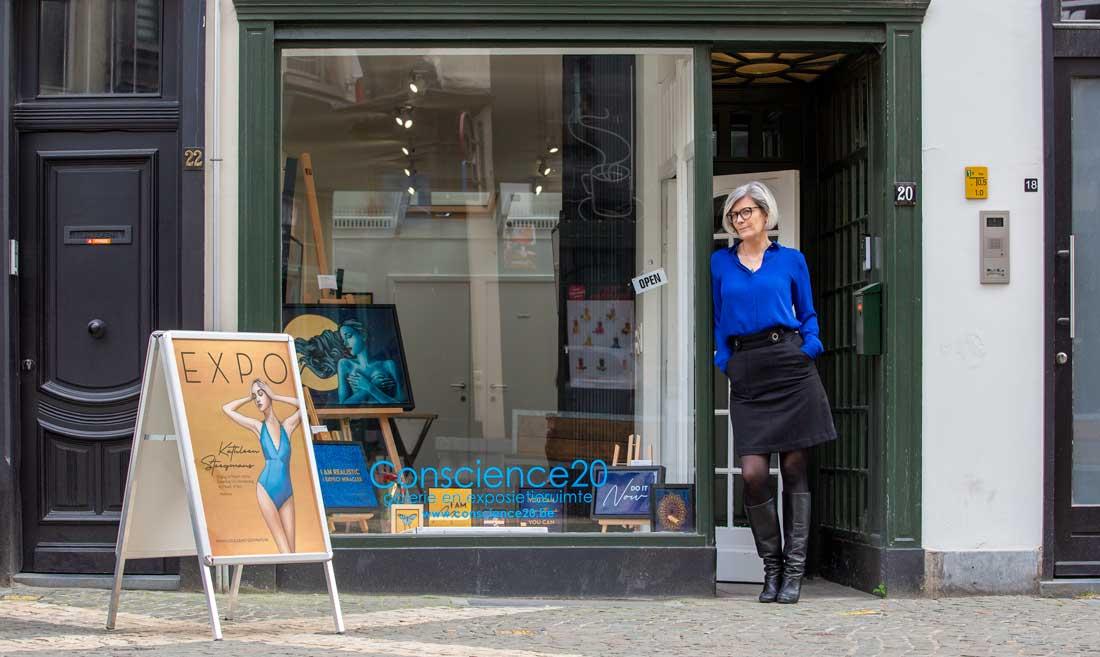 Expo Kathleen Steegmans, Conscience 20, Hendrik Conscienceplein 20, Antwerpen.