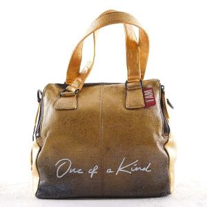 golden hand painted luxury hang bag