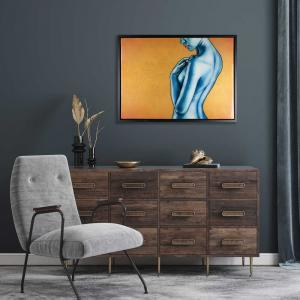 Figurative Gold artwork in Interior