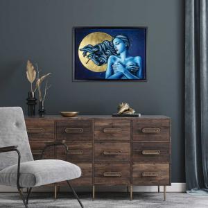 DreamTime magic artwork in an interior