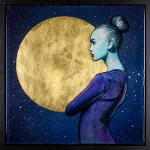 Shoot for the moon. Even if you miss, you'll land among the stars. Original Artwork