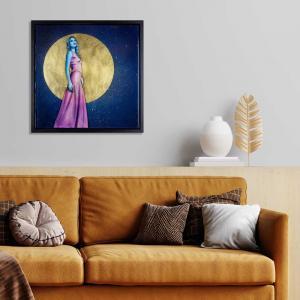 Full moon artwork in interior