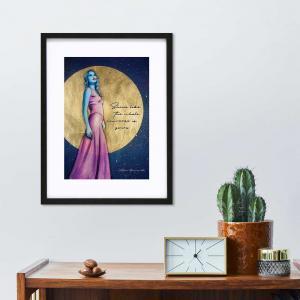 Full Moon art print in an interior